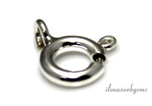 Sterling zilveren veerring ca. 6mm