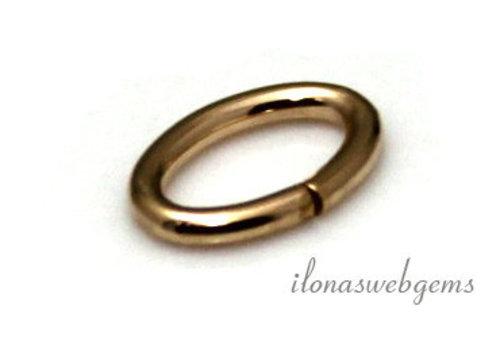 14k/20 Gold filled lock-in oogje ca. 9.6x6.4x1.27mm
