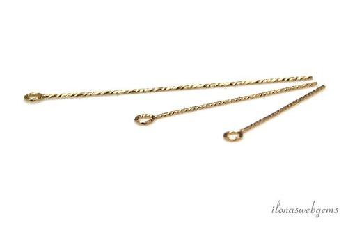 14k / 20 Gold, das gefüllt kettelstift über 25X0.5mm