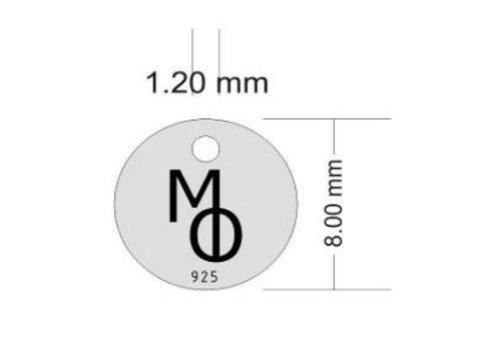130 Stück labeltje MO Sterling Silber schwarz Rhodium