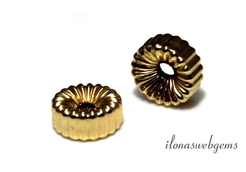 14k / 20 Gold filled roundel approx. 8mm