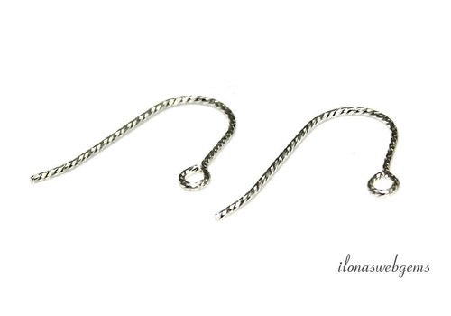 1 Paar Sterling Silber Ohrhaken ca. 19mm