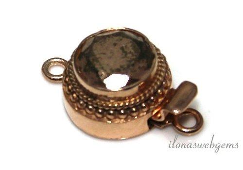 Rosé Vermeil bowllock with Pyrite about 17mm