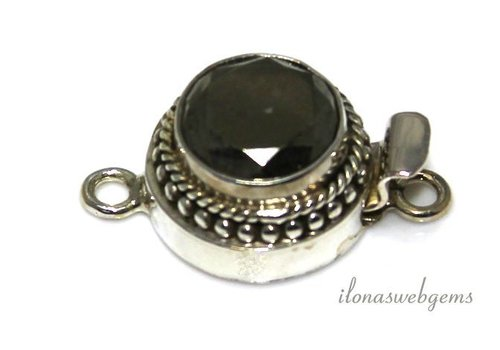 Sterling silver box lock with Pyrite about 17mm