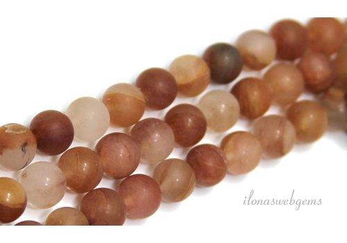 Sunstone beads mat around 8mm