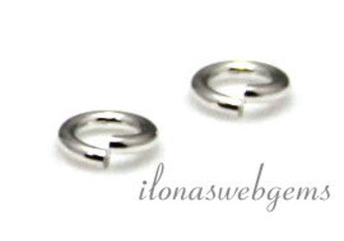 10 x Sterling Silber Auge offen über 4x0.5mm