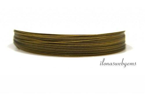 Gecoat staaldraad goudkleur  0.45mm (7 draads)