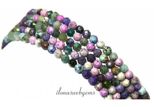 Chrysocolla beads Diamond cut ca.4.5mm