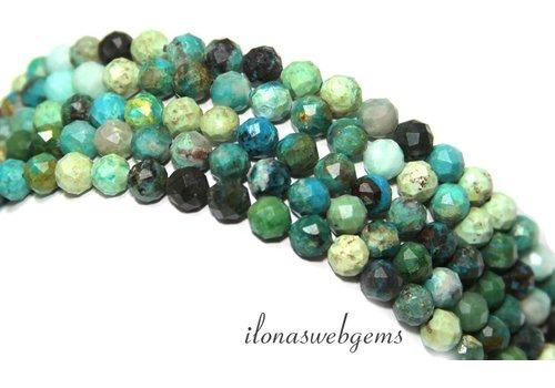 Chrysokoll Perlen-Diamant-Schnitt etwa 6 mm