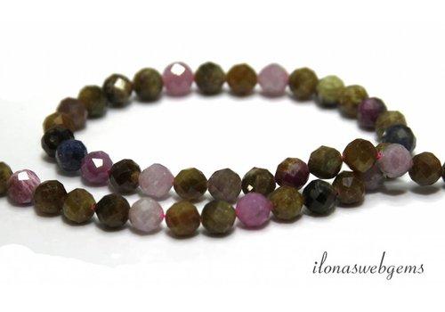 Rubin und Saphir Perlen-Diamant-Schnitt