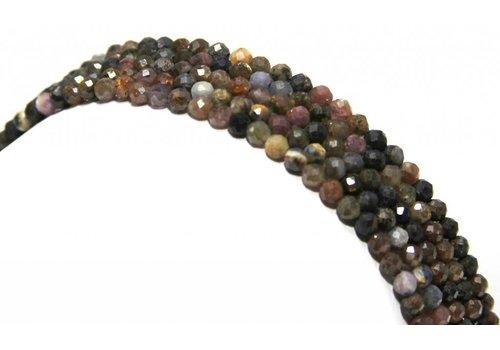 Rubin und Saphir Perlen Diamant schnitt etwa 3,5 mm