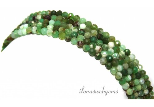 Chrysoprase beads diamond cut approx. 4mm