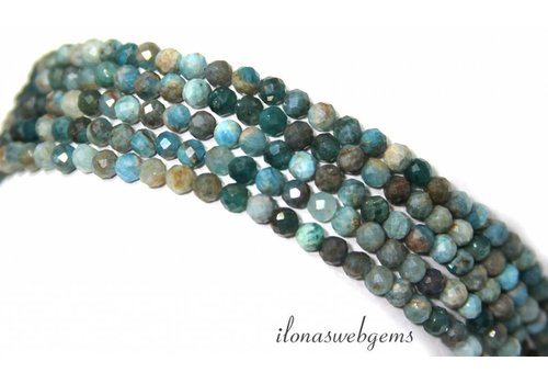 Chrysocolla beads Diamond cut approx. 4.3mm