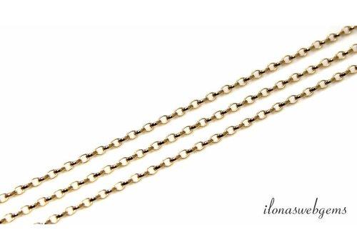 1 cm Gold filled jasseron chain / chain ca. 2.6x1.8mm
