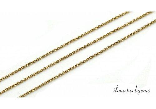 1cm 14k/20 Gold filled schakels / ketting 1.2mm