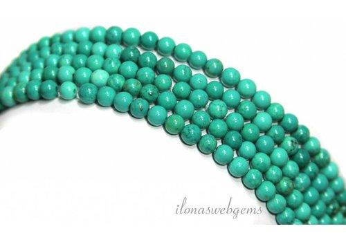 Howliet kralen wit turquoise rond ca. 6mm