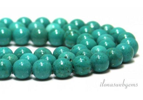 Howliet kralen turquoise rond ca. 8mm