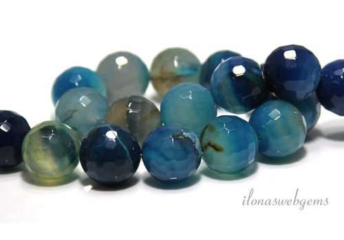 Fire agate beads facet around 20mm - Copy