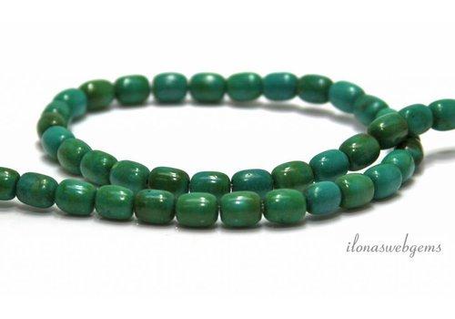 Turquoise beads roundel around 7x6mm
