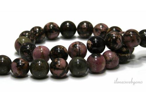 Rhodonit Perlen um 12mm