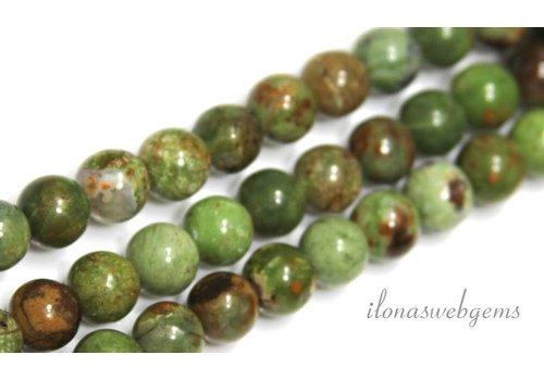 Groene Opaal kralen rond ca. 8.5mm