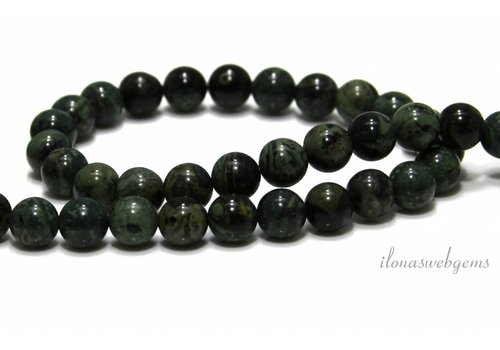 Greenlace Jasper beads around 8.5mm