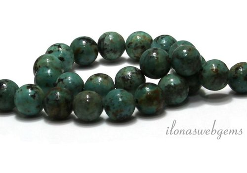 African Turquoise beads around 10mm