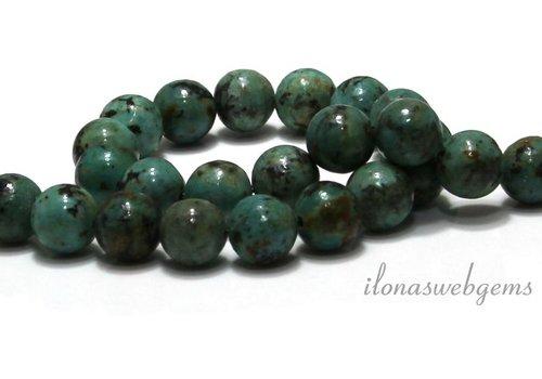Afrikanischer Türkis Perlen um 10mm