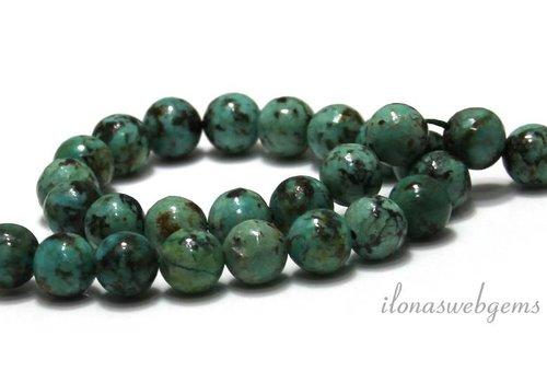 Afrikanischer Türkis Perlen um 8mm