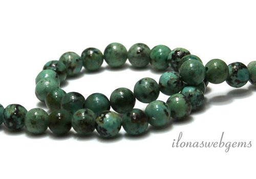African Turquoise beads around 6mm