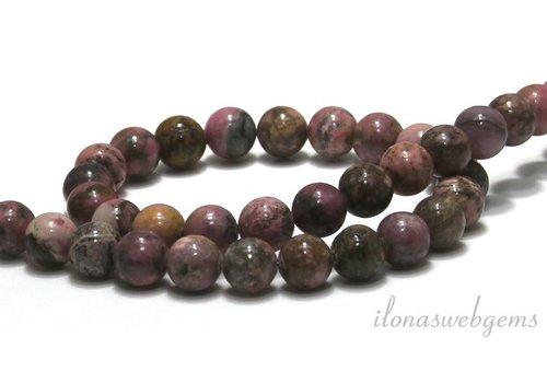 Rhodonite beads around 8mm