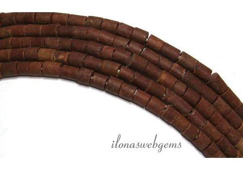 Tibetaanse Jaspis kralen mini ca. 3x2mm