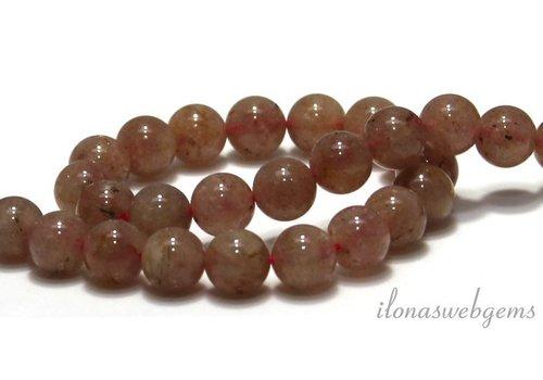 Strawberry Quartz beads around 8.5mm