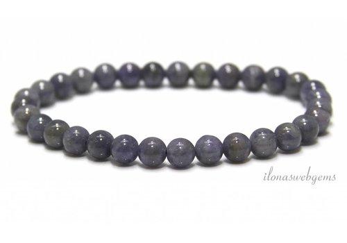 Tansanit Perlen (Armband) ca. 6mm