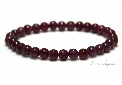 Ruby beads (bracelet) approx. 6mm