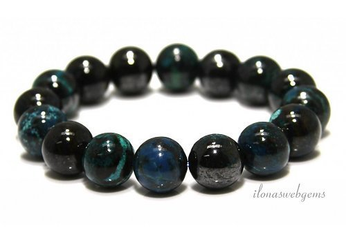 Chrysokoll-Perlen (Armband) AA-Qualität ca. 14mm