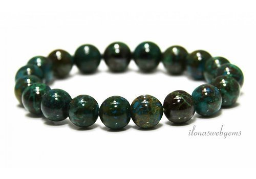 Chrysocolla beads (bracelet) AA quality approx. 10mm