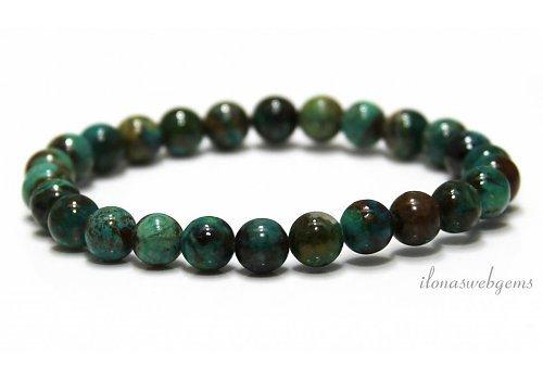 Chrysocolla beads (bracelet) AA quality around 7mm