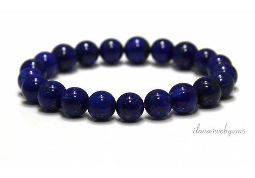 Lapis lazuli kralen (armband) AA kwaliteit ca. 9mm