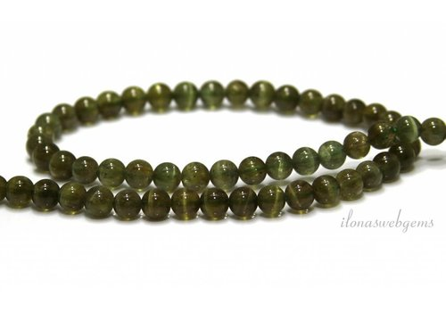 Apatite beads round green A grade approx. 6mm