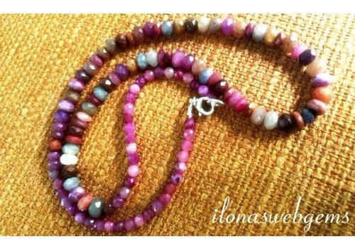 Inspiration: Bunte Saphir-Halskette