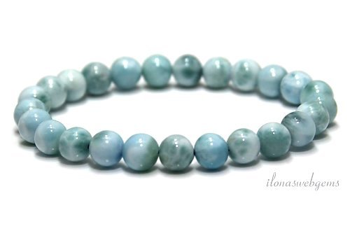 Larimar beads (bracelet) A quality approx. 7mm
