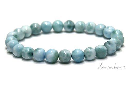 Larimar Perlen (Armband) Eine Qualität ca. 7mm