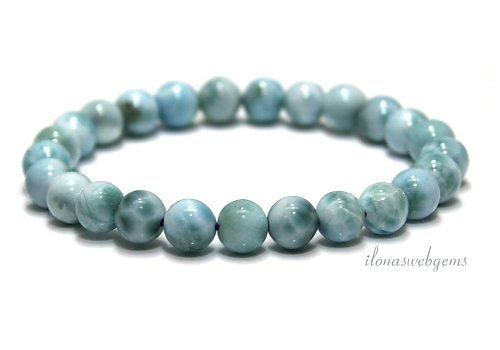 Larimar Perlen (Armband) Eine Qualität ca. 8mm