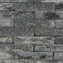 Brickwall 30x10x6,5cm grijs zwart