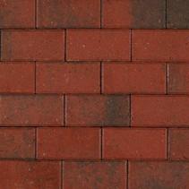 BSS 8cm KOMO rood genuanceerd met deklaag