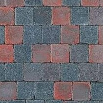 Abbeystones 10x10x6cm rood/zwart