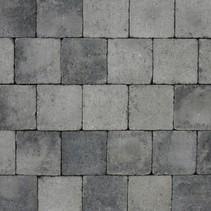 Abbeystones 14x14x6cm grijs/zwart