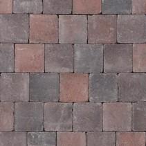 Abbeystones 14x14x6cm rood/zwart