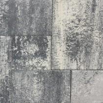 Terras-verband 4cm naturel grijs/zwart ef
